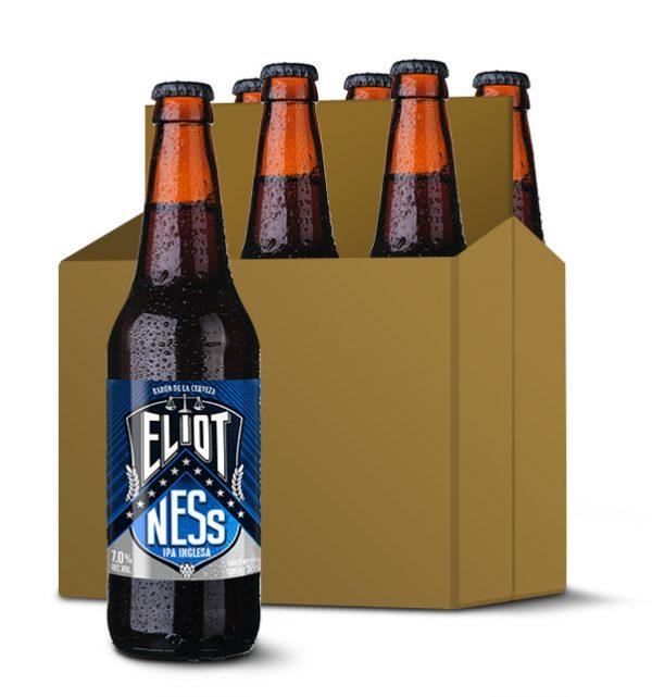 six de cervezas artesanales IPA Eliot Ness
