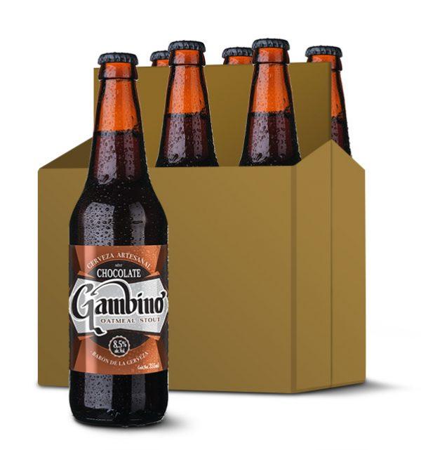 gambino cerveza artesanal mexicana oatmeal stout six pack